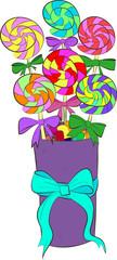 Round swirl candy