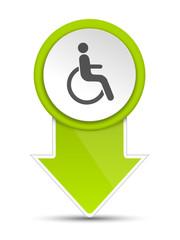Pfeil grün Rollstuhlfahrer