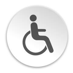 Schild rund Rollstuhlfahrer