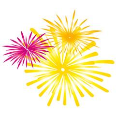 Feuerwerk - gelb - orange - pink