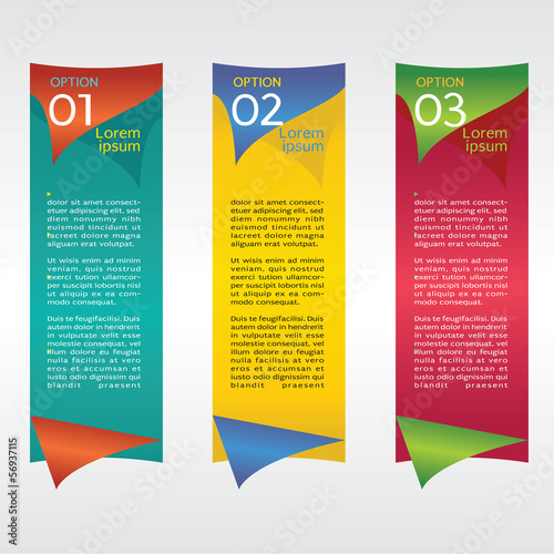 Vertical Banners Vector Set With Number.EPS10
