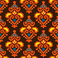 Ethnic Seamless pattern Damask