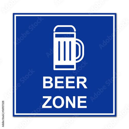 Cartel simbolo BEER ZONE
