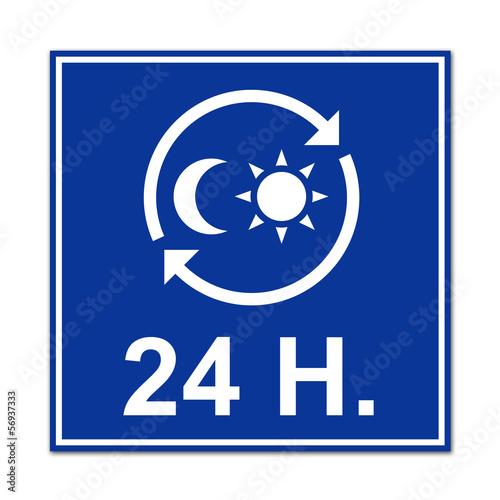 Cartel simbolo 24h