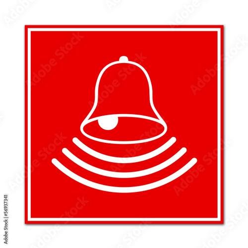 Cartel simbolo aviso de alarma