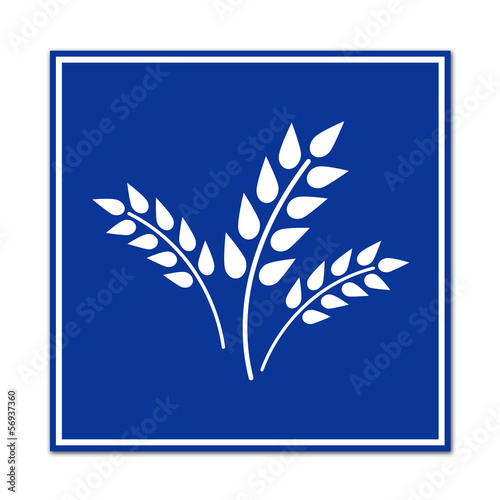 Cartel simbolo cultivo agricola