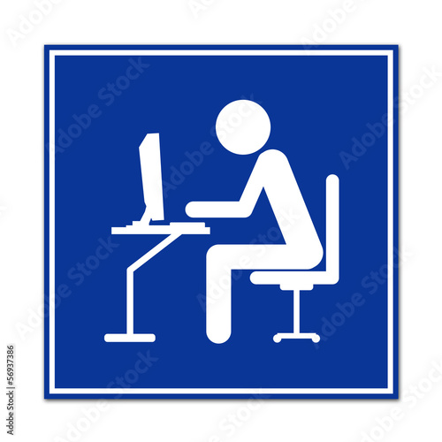 Cartel simbolo cibercafe