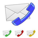 Envelope with Handset Icon