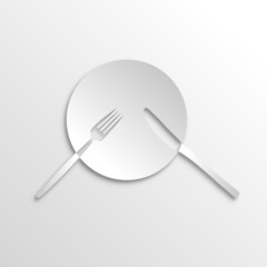 Vector Logo cook, international cuisine