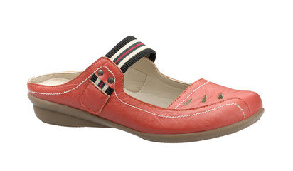 A beautiful and comfortable orange leather women shoe