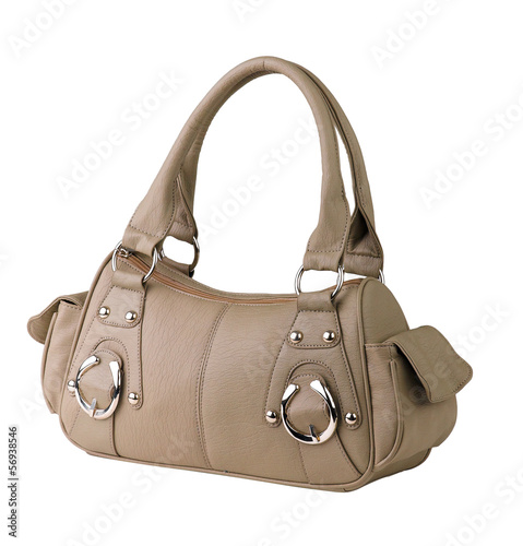 Modern design of brown leather bag