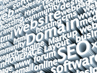 Domain SEO wordwall 3D
