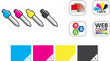 Color CMYK Icon Set
