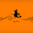 Halloween Flying Witch & Stars