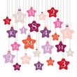 Advent Calendar Stars Pink/Orange/Purple