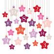 Advent Calendar Stars Pink/Orange/Purple