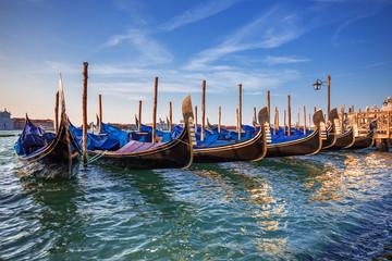 gondolas in Venice. Italy.