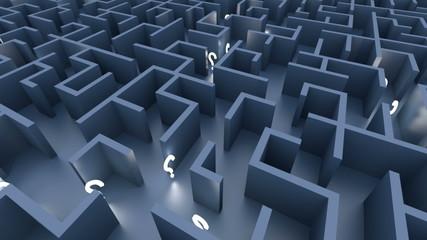 Labirinto con luci
