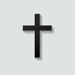 Mourning Card Black Cross