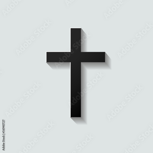 Mourning Card Black Cross
