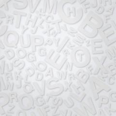 Buchstaben auf weißer Fläche