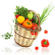 Vegetables and fruits in the basket