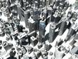 3d rendered illustration of a large city
