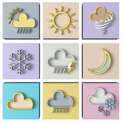 Weather forecast 3d set