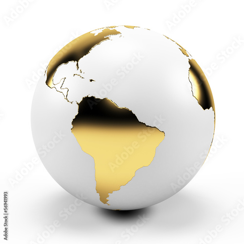 3d rendered illustration of a golden globe