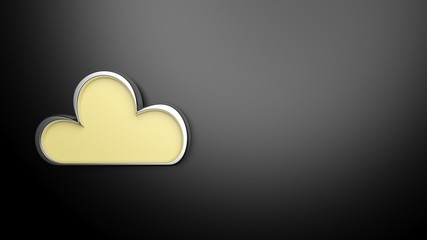 Weather forecast background, with 3d cloud