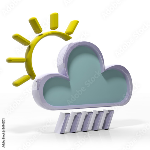 Weather forecast 3d icon