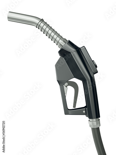 Black fuel pump, 3D render