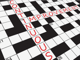 """CONTINUOUS IMPROVEMENT"" Crossword (process business strategy)"