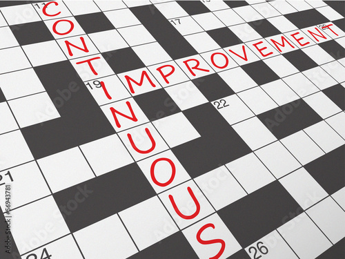 CONTINUOUS IMPROVEMENT Crossword (process business)