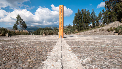 Equator Line Monument, marks the point through which the equator