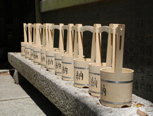 Water Buckets Outside Shrine