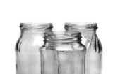 Three empty jars