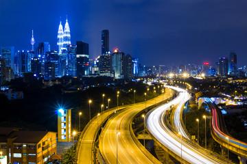 Kuala Lumpur city at night