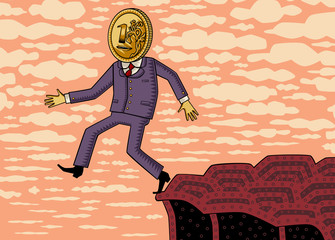 Падение курса рубля или кризис в экономике России.