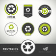 Quality set of recycling labels and badges