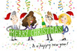 Business people, celebrating, merry christmas, happy new year
