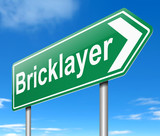 Bricklayer concept.