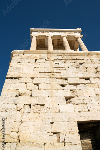 Ancient temple of Athena Nike on Acropolis Hill, Athens