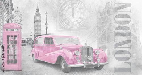 Retro auto in London - 56946913