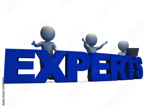 Experts Word Showing Expertise And Consultants