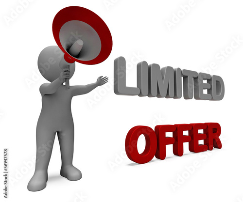 Limited Offer Character Shows Deadline Offers Or Product Promoti