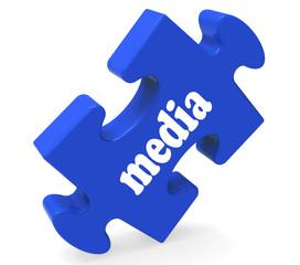 Media Jigsaw Shows News Newspapers Radio Or Tv