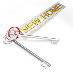 New Home Key Shows Moving To House