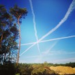 Airplane trails