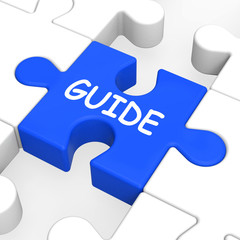 Guide Puzzle Shows Guidance Guideline And Guiding